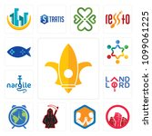 set of 13 simple editable icons ...   Shutterstock .eps vector #1099061225