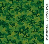 camouflage pattern. seamless.... | Shutterstock .eps vector #1099071926