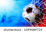 soccer ball with flag of russia.... | Shutterstock .eps vector #1099089725
