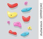 climbing wall vector... | Shutterstock .eps vector #1099091342