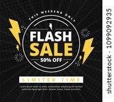 flash sale banner template... | Shutterstock .eps vector #1099092935
