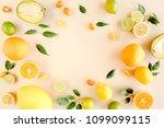 frame made of summer tropical... | Shutterstock . vector #1099099115