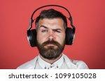 music  enjoyment  leisure ... | Shutterstock . vector #1099105028