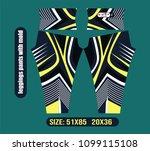leggings pants vector... | Shutterstock .eps vector #1099115108