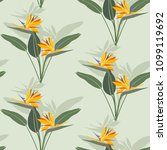 seamless pattern with flowers... | Shutterstock .eps vector #1099119692