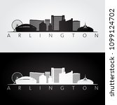 arlington  texas    usa skyline ... | Shutterstock .eps vector #1099124702
