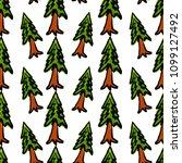 trees seamless pattern vector... | Shutterstock .eps vector #1099127492
