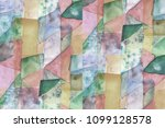 geometric colorful abstract... | Shutterstock . vector #1099128578