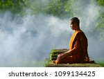 Buddhist Monks Meditate To Cal...