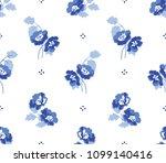 seamless flower fashion vector...   Shutterstock .eps vector #1099140416