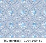 seamless flower fashion vector...   Shutterstock .eps vector #1099140452