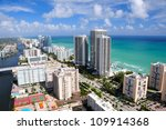 Aerial View Of Miami Beach Are...