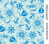 seamless pattern with sea... | Shutterstock .eps vector #109915382