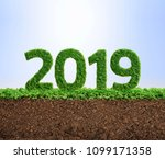 2019 is a good year for growth... | Shutterstock . vector #1099171358