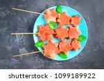 watermelon in the form of stars ... | Shutterstock . vector #1099189922