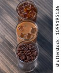 black iced coffee  cold latte ... | Shutterstock . vector #1099195136