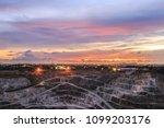 beautiful sunlight and cloudy... | Shutterstock . vector #1099203176