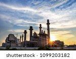 gas turbine electrical power... | Shutterstock . vector #1099203182