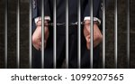 close convicted man with... | Shutterstock . vector #1099207565