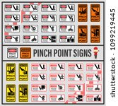 set of signs and symbols of... | Shutterstock .eps vector #1099219445