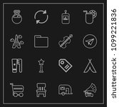 modern  simple vector icon set... | Shutterstock .eps vector #1099221836