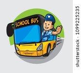 driver school bus | Shutterstock .eps vector #1099225235