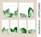 collection of vector template... | Shutterstock .eps vector #1099226885