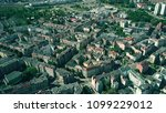 aerial view of residential area ... | Shutterstock . vector #1099229012