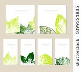 collection of vector template... | Shutterstock .eps vector #1099231835