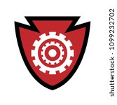 shield and gears icon.  | Shutterstock .eps vector #1099232702