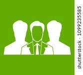 recruitment icon white isolated ...   Shutterstock . vector #1099235585