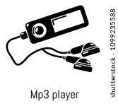 mp3 player icon. simple...   Shutterstock . vector #1099235588