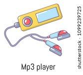 mp3 player icon. cartoon...   Shutterstock . vector #1099239725