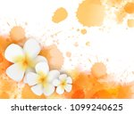 banner with abstract watercolor ... | Shutterstock .eps vector #1099240625