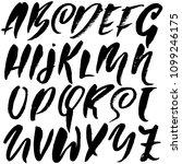 grunge distress font. modern... | Shutterstock .eps vector #1099246175