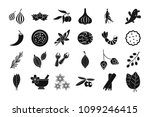 spices icon set. simple set of...   Shutterstock . vector #1099246415