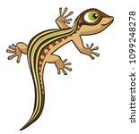 cute cartoon lizard vector... | Shutterstock .eps vector #1099248278