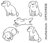 vector set of dog  golden... | Shutterstock .eps vector #1099249838