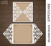 laser cut wedding invitation...   Shutterstock .eps vector #1099251488