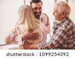 handsome doctor is meeting an... | Shutterstock . vector #1099254392
