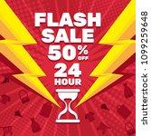 flash sale banner template... | Shutterstock .eps vector #1099259648