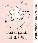 little star  greeting card for... | Shutterstock .eps vector #1099263302