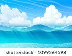 Vector Summer Cartoon Seascape...