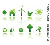 ecology icon set | Shutterstock .eps vector #1099273082