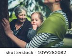 a mother  grandmother and small ... | Shutterstock . vector #1099282082
