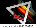 liquid fluid colors holographic ... | Shutterstock .eps vector #1099286738