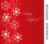 christmas snowflakes background | Shutterstock .eps vector #109929128
