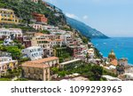 world famous positano on a... | Shutterstock . vector #1099293965