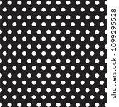 white dots polka on black...   Shutterstock .eps vector #1099295528