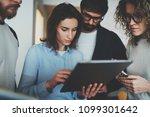 group of young entrepreneurs... | Shutterstock . vector #1099301642